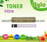 Cartucho de tóner de color copiadora TN216 para la Bizhub C220/280/360