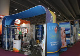 Tienda estándar de aluminio moderna de la feria profesional que hace publicidad de la cabina de la exposición