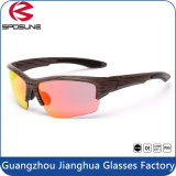 Lunettes neuves de vélo de sport des lunettes de soleil UV400 de lentilles de PC en verre de Sun de sports en plein air 1.1mm