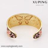 Blumen-Basisrecheneinheits-geöffnetes Armband der Form-Bangle-186 breites Luxuxgold überzogenes des Edelstein-24k
