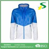 봄 의류 Mens와 여자의 파란 스포츠용 잠바 재킷