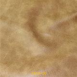 トカゲパターンが付いている熱い販売の織物材料PUの靴革