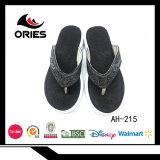La moda modelo cómodo tejido único Playa superior Flip Flop zapatillas