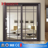 Porte coulissante de double véranda en verre en aluminium de vente en gros d'usine de la Chine