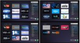 Caixa Android da tevê com o DVB-S2 com computação distribuída do assediador de IPTV