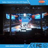 Pequeños visualización de LED a todo color de interior de la echada 2.5 del pixel con servicio del frente del módulo