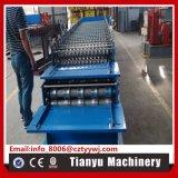 Doppeltes Blatt-Profil-Stahldach-Panel-Rolle, die Maschine bildet