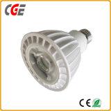18W LEDのスポットライトPAR38 LED軽い85-265V 0.9PF 18Wの穂軸PAR38
