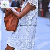 2017 Europäer-Spitze-elegante Sleeveless Fußleisten-Form-Frauen-reizvolles Kleid