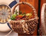 (BC-SF1014) respetuoso del medio ambiente natural hecho a mano de paja cesta de la flor