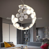 Lámpara pendiente de acrílico creativa moderna de la suspensión LED de la personalidad para la iluminación de la sala de estar