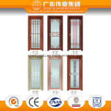 Portello di alluminio di vetro glassato e portello della stanza da bagno della finestra