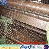 Fabricante do engranzamento sextavado revestido barato do PVC de Anping