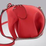 Borsa animale Emg5070 della moneta del sacchetto della frizione di spalla di stile dell'elefante del sacchetto della mini borsa sveglia di cuoio reale di formato