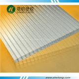 Hoja cristalina de la depresión del policarbonato de la pared del gemelo del policarbonato de Bayer