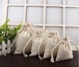 Kundenspezifischer fördernder Firmenzeichen-Druck-natürlicher Baumwollsegeltuchdrawstring-Beutel