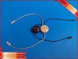 青いシールの札の衣服プラスチックハングストリング札