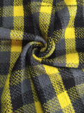Revisar el stock de tejido de lana, tejido de lana (amarillo y negro de tela de lana)