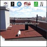 500*500 piso de goma de la plaza de juegos de exterior mosaico pavimentadora