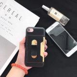 Cassa di cuoio più dell'unità di elaborazione di iPhone 7 accessori della cassa del telefono mobile