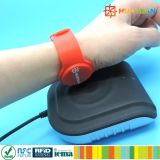 Adjustable Club Gym Door Lock MIFARE Classic 1K RFID Silicone Bracelet
