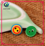Tecla redonda colorida do sobretudo da tecla de camisa dos doces da tecla