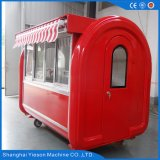 Quiosque do fast food do carro do cão quente de Ys-Bf230g com dossel