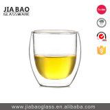 200ml Venta caliente de borosilicato de vidrio Pyrex de pared doble taza de té