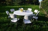 Tableau de restaurant de table ronde de 5FT dinant la table ronde