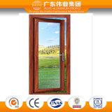 75 series del aluminio del puente/aluminio/puerta abierta rotos del exterior de madera de Aluminio
