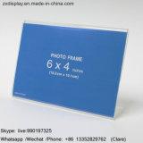 4X6 Houder van het Beeld van de Desktop van het Frame van de Foto van de Vorm van L van de duim de Plastic Duidelijke Acryl