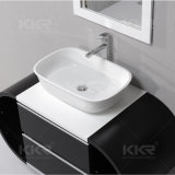Meubles de salle de bains moderne de la pierre artificielle lavabo
