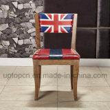 A cadeira moderna do restaurante do frame de madeira com retrato típico imprimiu (SP-EC651)