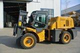 3.5 Diesel van het Terrein Forklift/JAC van de Vorkheftruck van de Ton off-Road Ruwe Vorkheftruck