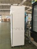 Вертикальный двойной дисплей распашной двери охладитель с динамической системы охлаждения