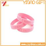 Vente chaude personnalisé Bracelet en silicone colorées, bracelet en silicone pour la promotion