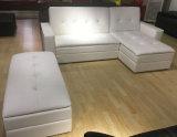 Unità di elaborazione o sofà d'angolo del tessuto Cum l'insieme della base