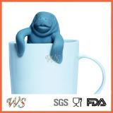 Commestibile stabilito del setaccio della lamella filtrante del tè del silicone di Infuser del tè del Manatee Ws-If052