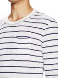 Camisas longas das listras T das luvas dos homens