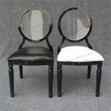 アクリルの透過後部席のクッション(YC-D87)が付いている黒いスタック可能ルイの幻影の椅子