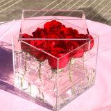贅沢でロマンチックで明確なアクリルのローズ及び花ボックス花の陳列ケース