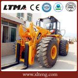 Maquinaria pesada cargador de la rueda de la carretilla elevadora de 22 toneladas para la venta