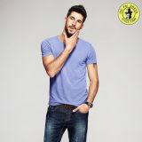 Les plus défuntes chemises 100% d'été de coton de modèle pour le T-shirt rond de chemise de circuit de collet d'illustrations des hommes