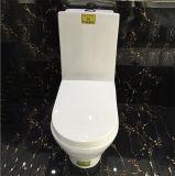Toilette d'une seule pièce bon marché fixée au sol en céramique de dragon d'or