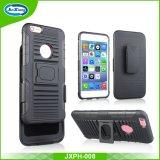 Caso duro magro Shockproof combinado da tampa traseira de telefone móvel da armadura do PC duplo barato da camada TPU do preço para o iPhone 6 positivo