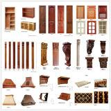 Gabinete de cozinha do bordo da noz da madeira contínua de N&L na boa qualidade