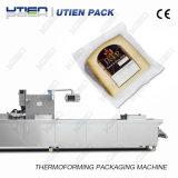 Queijo de termoformagem automática máquina de embalagem a vácuo com enchimento automático