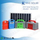 휴대용 20W 소형 크기 태양 녹색 조명 시설