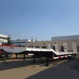 Oplegger Ailer van het Bed van de vervaardiging de Lage die voor Vervoer van Zware Apparatuur wordt gebruikt