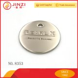Einer Inch Antique Messing Customed Metall Logo Namensschild für Handtasche Jede Form Jede Farbe